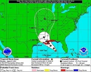IsaacTropical Storm Isaac Update