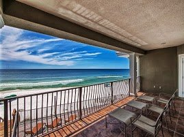 30A gulf front home for sale with incredible balcony views. Gulf front homes along 30A make great vacation rentals too. Imagine waking up every morning with this beach view!