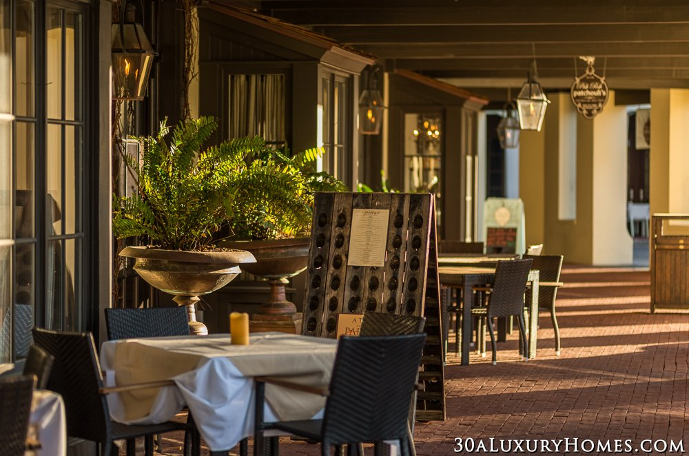 Dining in Rosemary Beach | Own a 30A Luxury Home in Rosemary Beach and you can walk to dinner and shopping