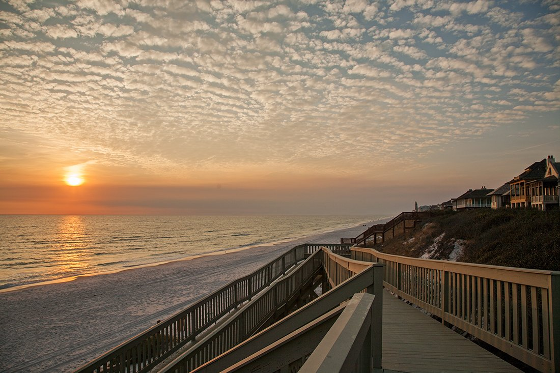 30A Luxury Homes - Enjoy beautiful sunset view from from Rosemary Beach when you own a 30A Luxury Home.