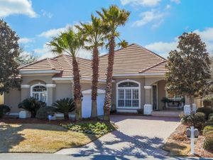 4334 Carriage Lane, Destin FL home for sale boasts of a heated pool and spa which allows its homeowner to spend their days relaxing while taking in the surrounding scenic view.