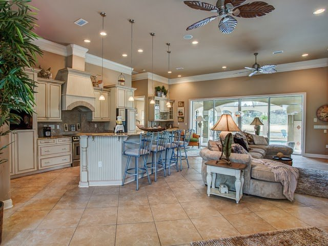 The large open floor plan of this Kelly Plantation home in Destin FL provides plenty of space for get-together with your friends and loved ones.