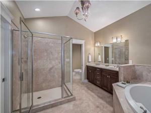 A grand master suite with a stunning view of the gulf awaits you in this Santa Rosa Beach home.