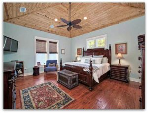 Consider this Seacrest FL home's large master suite your very own refuge with its en suite bath and large walk-in closet.