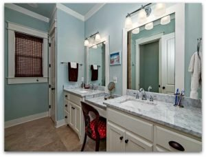Even the bathrooms in this Seacrest Beach home for sale are just as spacious!