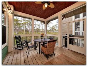 The screened-in porch in this Seacrest Beach FL home for sale makes a perfect spot to enjoy the sea breeze too!