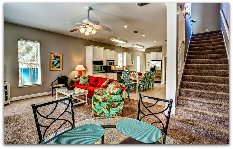 The wonderfully designed open floor plan of this Destin FL home for sale connects all the lovely features together.