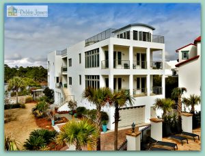 Grab your chance to own this delighfully unique 4-story lakefront home for sale in Santa Rosa Beach FL.