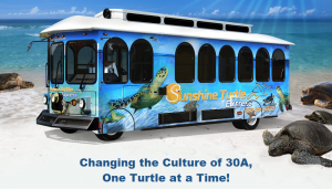 The Sunshine Turtle Express makes it more convenient for both residents and non-residents of 30A luxury homes to tour the stunning surroundings along 30A.