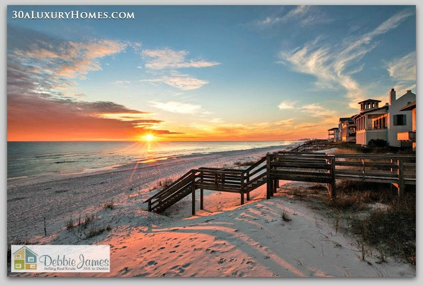 Enjoy the powdery white sand and the glorious emerald beaches of 30A all year-round when you live in your own 30A luxury home.
