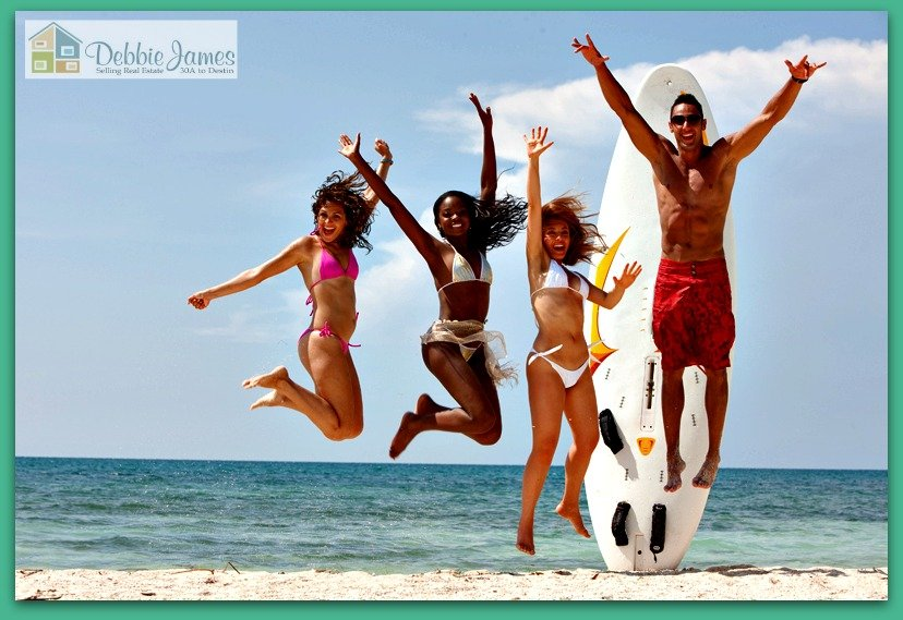 Yolo boarding along the Emerald Coast is not only fun and exciting, but it also gets your body in shape.