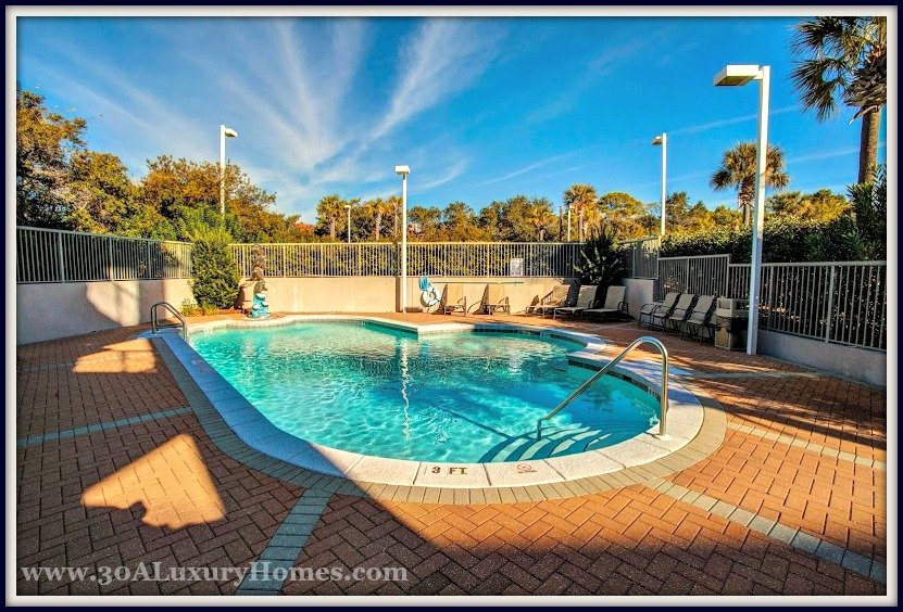 This Abacos condo for sale in Santa Rosa Beach FL also has a private pool for its residence to enjoy!