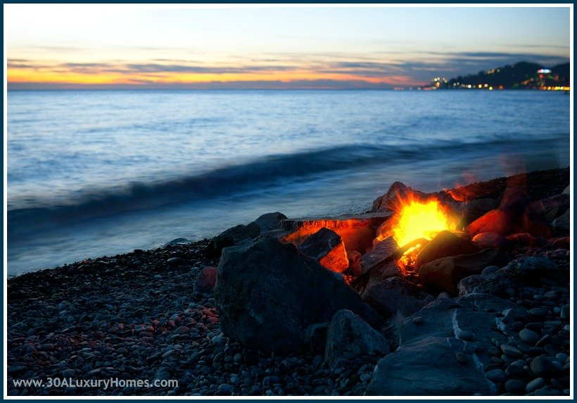 Enjoy a beach campfire with friends and loved ones, and experience the pristine beaches along 30A like no other.