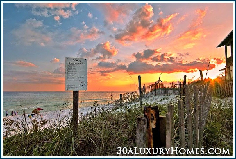 When you live in a 30A luxury home, you get to take pleasure in having a beach campfire in the beautiful beaches along 30A anytime you feel like it.