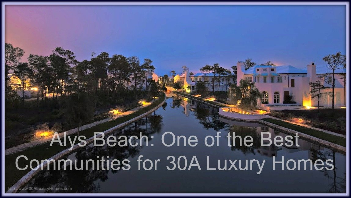 Visit Alys Beach and appreciate the amazing architectural styles of the luxury homes along 30A.