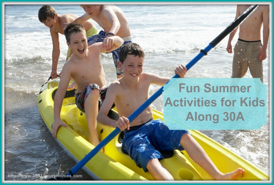 Bring your kids to WaterColor this summer to enjoy the fun activities near 30A luxury homes.