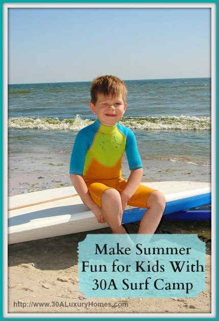 If you're a resident of a 30A luxury home, then your kids are bound to enjoy the Surf Camp this summer.