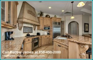 The exquisite kitchen design of this home for sale in Miramar Beach FL will give you the best cooking experience!