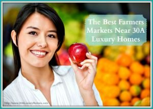You can be assured that the products sold in these top farmers' market near 30A luxury homes are fresh and of good quality.
