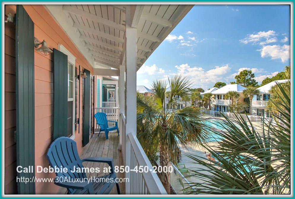 Breathe in the fresh ocean air while lounging in the impressive balcony of this beautiful 2 bedroom cottage home for sale in Seagrove Beach FL.