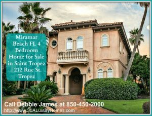 This Miramar Beach FL home for sale with deeded beach access has features that makes it utterly remarkable.
